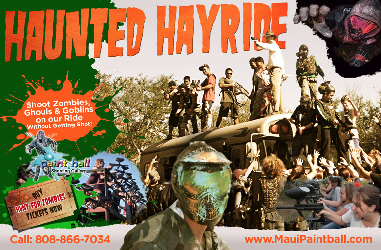 Maui Zombie shoot Haunted Hayride