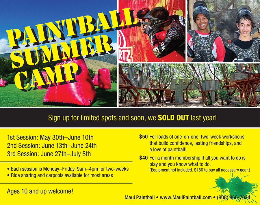 Maui Paintball Summer Camp